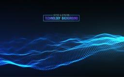 Abstrakter Technologie-Hintergrund Gitter des Hintergrundes 3d Cybertechnologie Ai-Technologiedraht-Netz futuristisches wireframe Stockfotografie