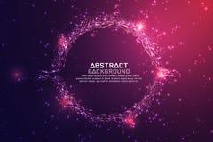 Abstrakter Technologie-Hintergrund Technologiekonzept des globalen Netzwerks vektor abbildung