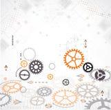Abstrakter Technologie-Hintergrund Zahnradthema Stockfotos