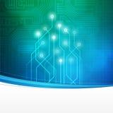 Abstrakter Technologie-Leiterplattehintergrund Stockfoto