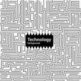 Abstrakter Technologie-Leiterplattehintergrund Vektor Abbildung
