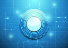 Abstrakter Technologieblauhintergrund Geometrischer Betrug des modernen Kreises Lizenzfreie Stockbilder