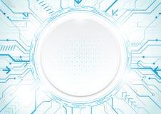 Abstrakter Technologieblauhintergrund Geometrischer moderner Betrug des Kreises Lizenzfreies Stockfoto