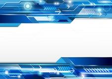 Abstrakter Technologieblauhintergrund Modernes Konzeptvektor desig Lizenzfreie Stockbilder