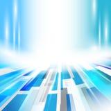 Abstrakter Technologieblauhintergrund Modernes Rechteck geometrisch Lizenzfreie Stockfotos