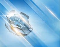 Abstrakter Technologieform-Vektorhintergrund EPS10 Stockbild