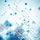 Abstrakter Technologiegeschäfts-Schablonenhintergrund Stockfoto