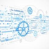Abstrakter Technologiegeschäfts-Schablonenhintergrund Lizenzfreies Stockfoto