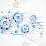 Abstrakter Technologiegeschäfts-Schablonenhintergrund Lizenzfreie Stockfotografie