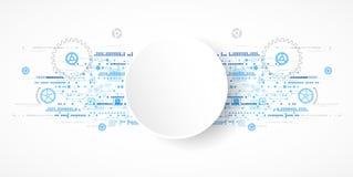 Abstrakter Technologiegeschäfts-Schablonenhintergrund Stockbild