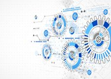 Abstrakter Technologiegeschäfts-Schablonenhintergrund Lizenzfreie Stockfotos