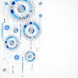 Abstrakter Technologiegeschäfts-Schablonenhintergrund Stockfotografie