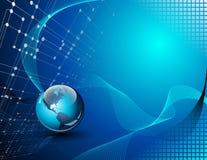 Abstrakter Technologiehintergrund Stockbild