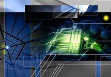 Abstrakter Technologiehintergrund lizenzfreie abbildung