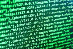 Abstrakter IT-Technologiehintergrund Arbeitsplatzrechnermonitorfoto Website-Design lizenzfreie stockfotos
