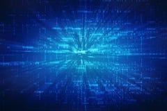 Abstrakter Technologiehintergrund Digital, binärer Hintergrund, futuristischer Hintergrund, Cyberspace Konzept vektor abbildung