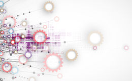 Abstrakter Technologiehintergrund Futuristische Technologieschnittstelle Lizenzfreie Stockbilder