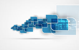 Abstrakter Technologiehintergrund Futuristische Technologieschnittstelle vektor abbildung
