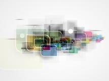 Abstrakter Technologiehintergrund Futuristische Technologieschnittstelle Lizenzfreies Stockfoto