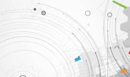 Abstrakter Technologiehintergrund Futuristische Technologieschnittstelle Stockfotos