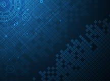 Abstrakter Technologiehintergrund Futuristische Technologieschnittstelle Vecto lizenzfreie abbildung