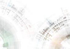 Abstrakter Technologiehintergrund Futuristische Technologieschnittstelle Vecto vektor abbildung