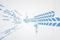 Abstrakter Technologiehintergrund Futuristische Technologieschnittstelle Vecto stock abbildung