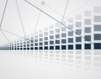 Abstrakter Technologiehintergrund Futuristische Technologieschnittstelle Vecto Lizenzfreies Stockfoto