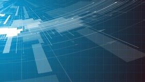 Abstrakter Technologiehintergrund Futuristische Technologieschnittstelle Vecto Stockfotografie