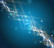 Abstrakter Technologiehintergrund Futuristische Technologieschnittstelle Vecto Lizenzfreie Stockfotos