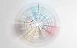 Abstrakter Technologiehintergrund Futuristische Technologieschnittstelle Vecto Stockfoto