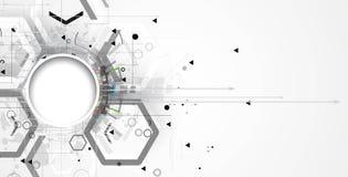 Abstrakter Technologiehintergrund Futuristische Technologieschnittstelle Vektor Stockbilder
