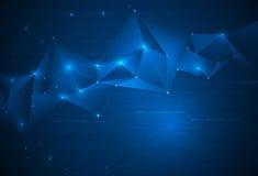 Abstrakter Technologiehintergrund mit Cyberspace lizenzfreie abbildung
