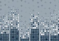 Abstrakter Technologiehintergrund mit dynamische Wellen und Partikel Auch im corel abgehobenen Betrag Lizenzfreie Stockbilder