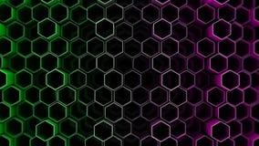 Abstrakter Technologiehintergrund mit Hexagonen Stockfoto