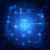 Abstrakter Technologiekonzept-Blauhintergrund Auch im corel abgehobenen Betrag Stockbild