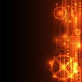 Abstrakter Technologiekonzepthintergrund, Vektorillustration Lizenzfreie Stockbilder
