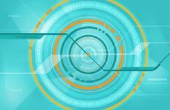 Abstrakter Technologiekreis-Technologiehintergrund Lizenzfreie Stockfotos