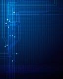 Abstrakter Technologiestromkreishintergrund Stockfoto