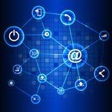 Abstrakter Technologiestromkreishintergrund Lizenzfreies Stockfoto