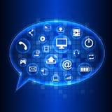 Abstrakter Technologiestromkreishintergrund Lizenzfreie Stockbilder