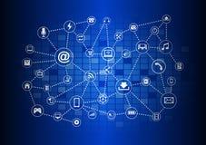 Abstrakter Technologiestromkreishintergrund Lizenzfreie Stockfotos