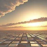 Abstrakter Technologiesun-Himmel-Hintergrund
