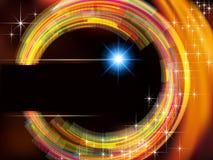 Abstrakter Technologiehintergrund mit Feuerkreis a Lizenzfreies Stockbild