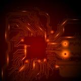Abstrakter technologischer Hintergrund Stockfotografie