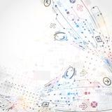Abstrakter technologischer Hintergrund lizenzfreie abbildung