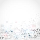 Abstrakter technologischer Hintergrund Lizenzfreie Stockfotos