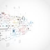 Abstrakter technologischer Hintergrund Lizenzfreies Stockfoto
