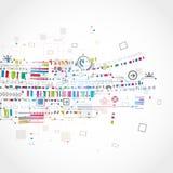 Abstrakter technologischer Hintergrund Stockbild