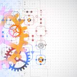 Abstrakter technologischer Hintergrund Stockbilder